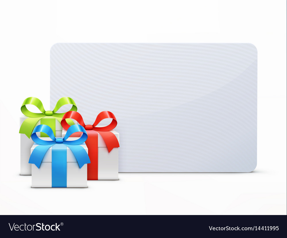 Three glossy gift boxes