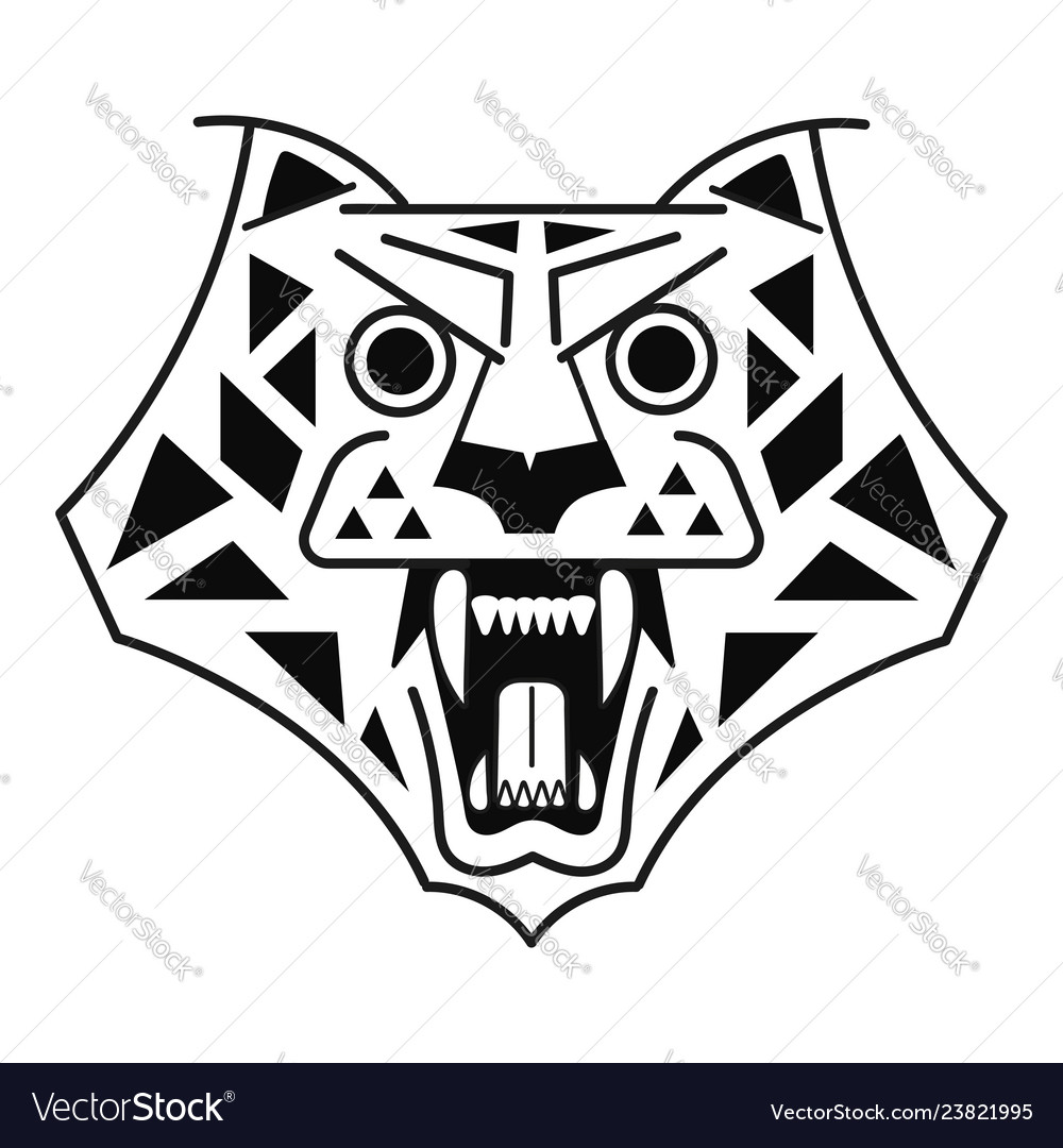 Tiger head black on white logo