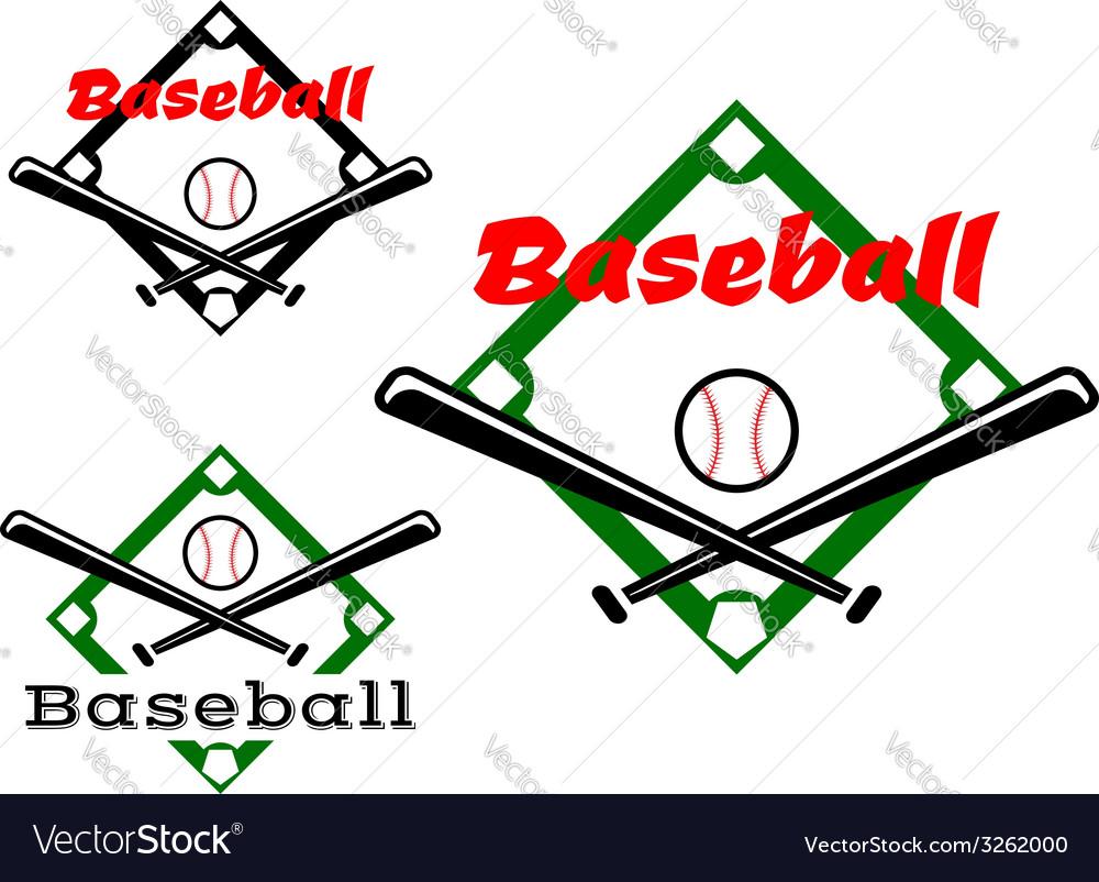 Baseball labels or badges vector image