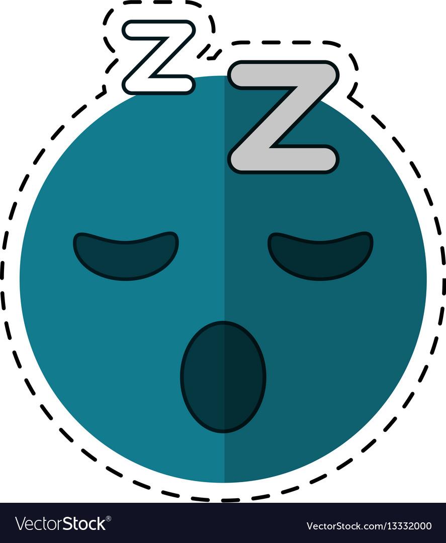 Cartoon sleepy emoticon funny