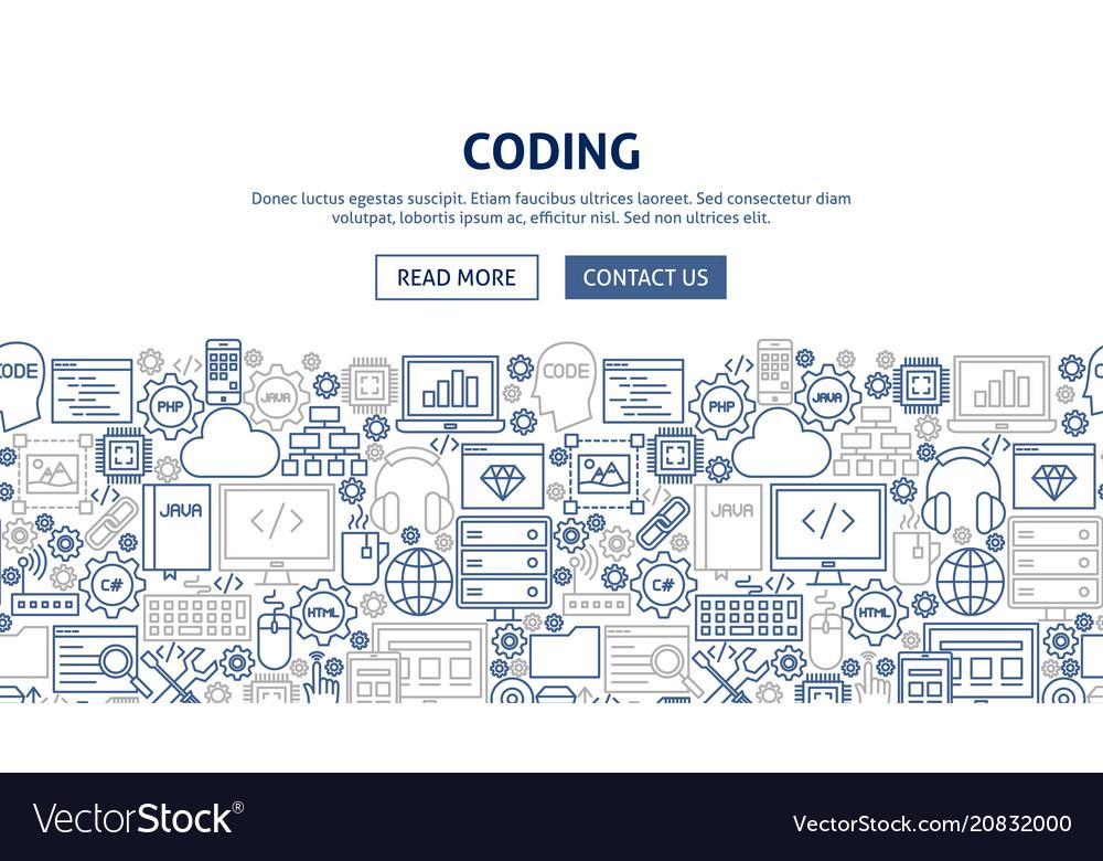 Coding banner design