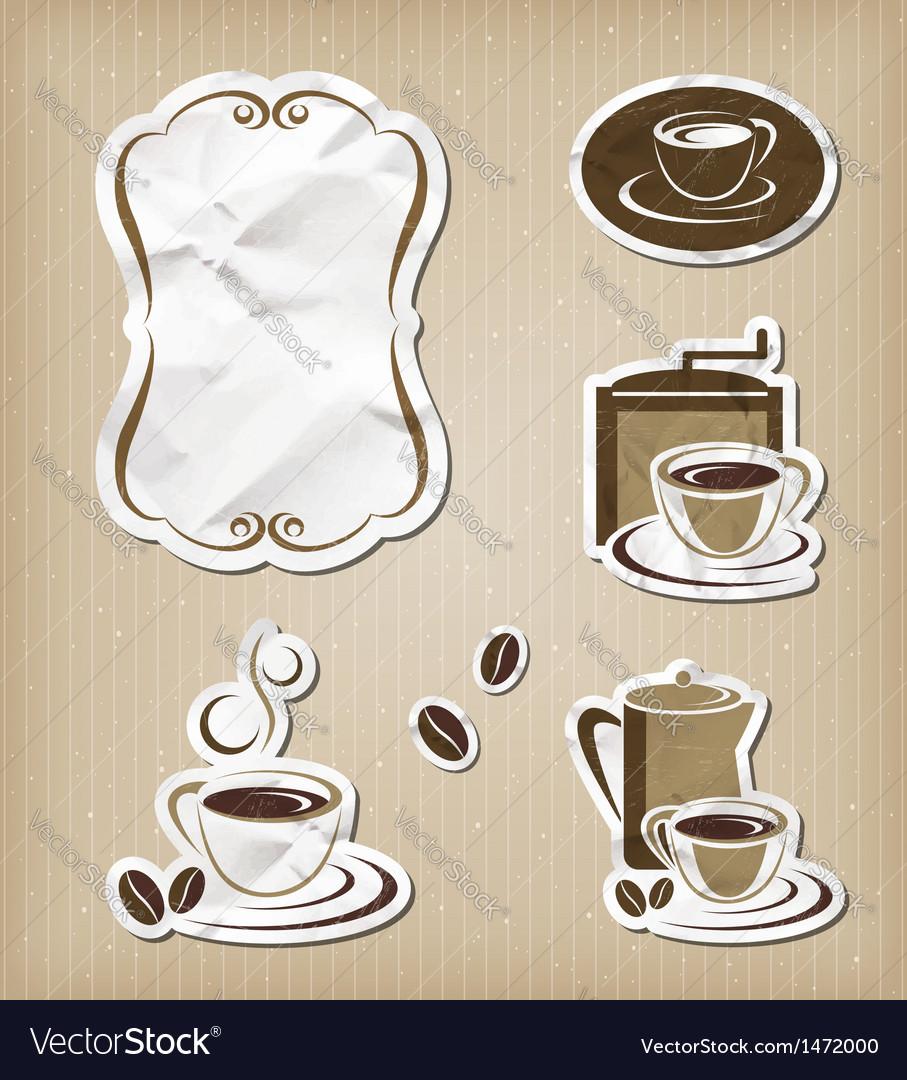 Coffee menu vintage set