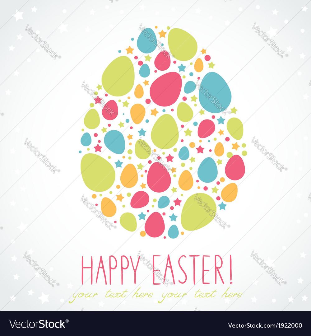 Easter egg stylized cute greeting card