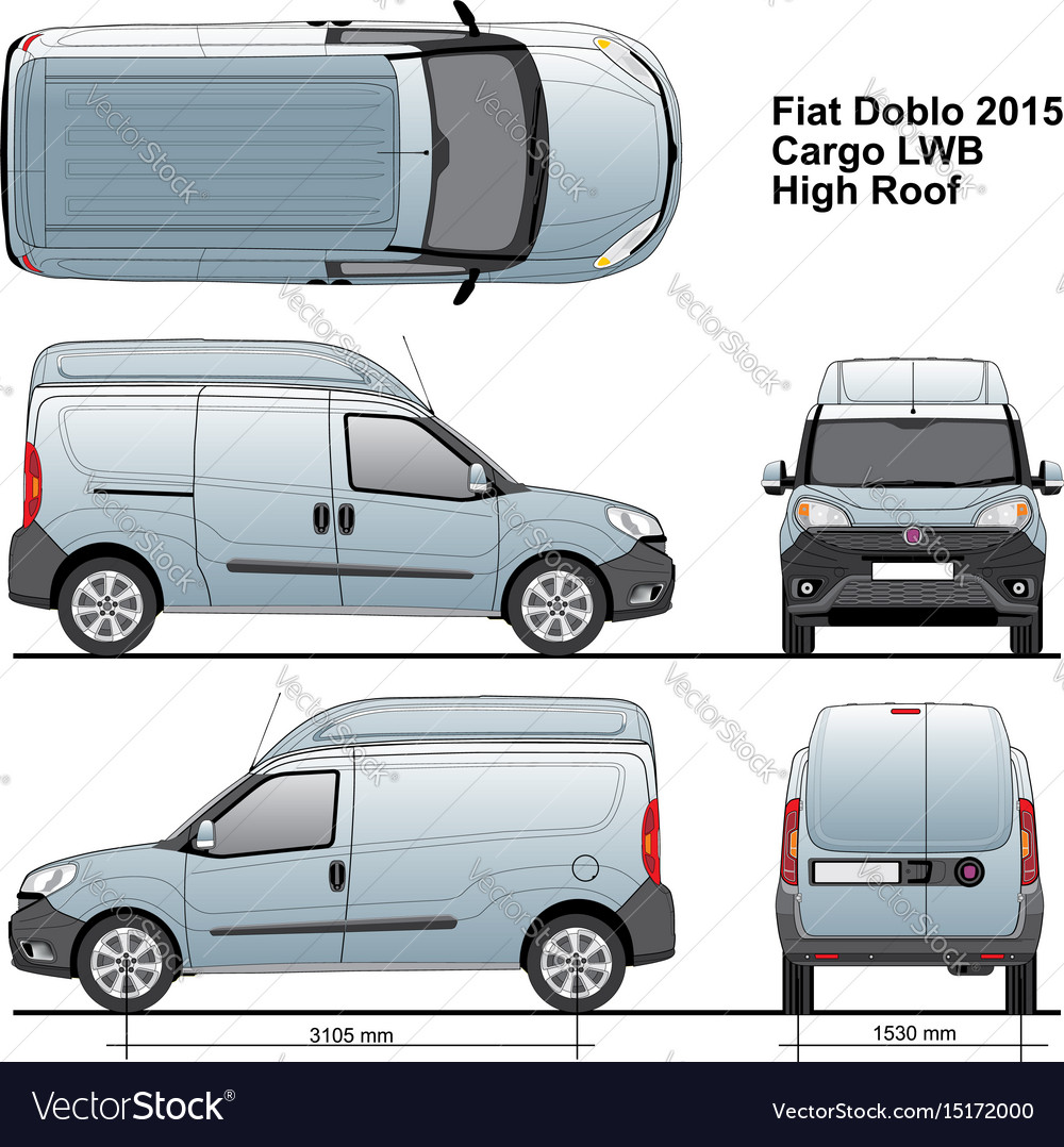 Fiat doblo maxi combi lwb high roof 2015 vector image malvernweather Choice Image