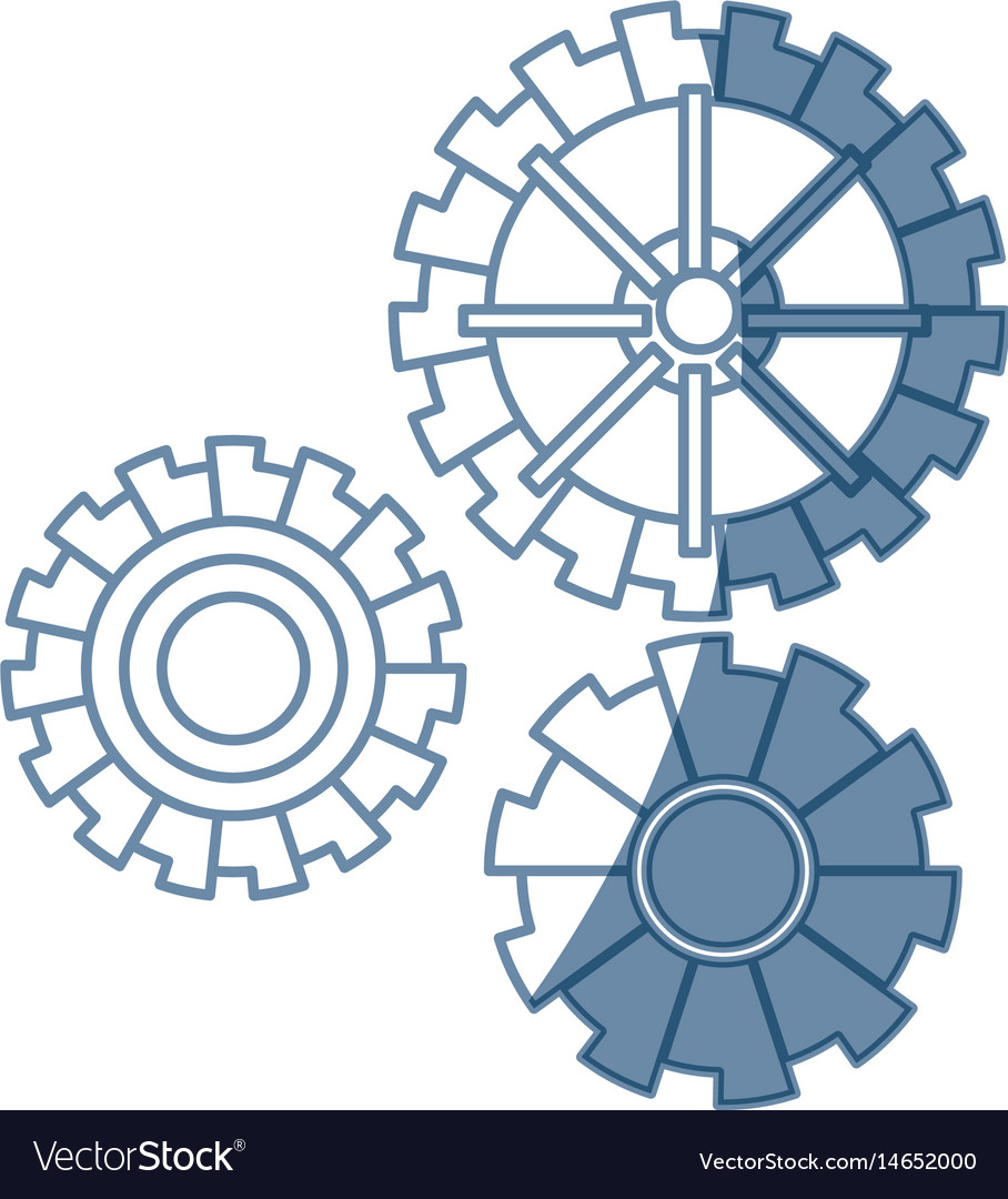 Gear work mechanical cooperation image