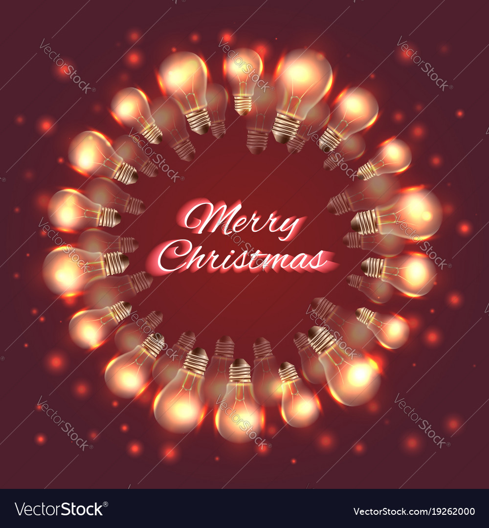 Greeting christmas card with festive garlands of vector image