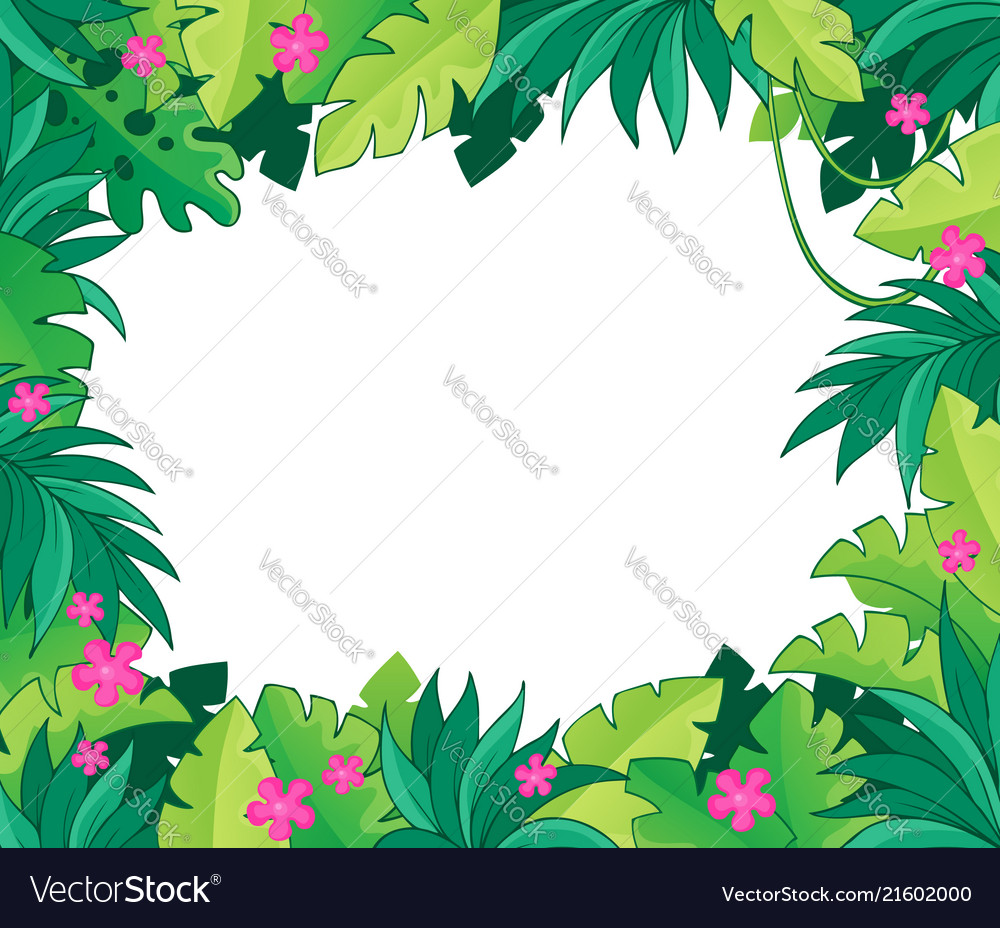 Theme Jungle image with jungle theme 1 royalty free vector image