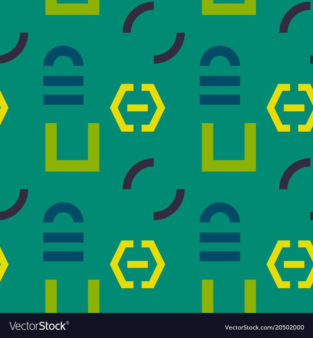 Interlock graphic seamless pattern