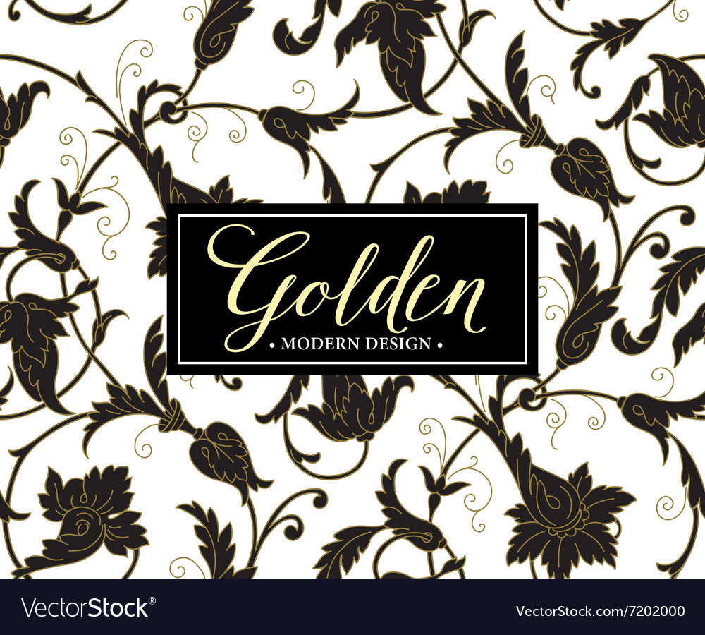 Luxury seamless background with gold frame