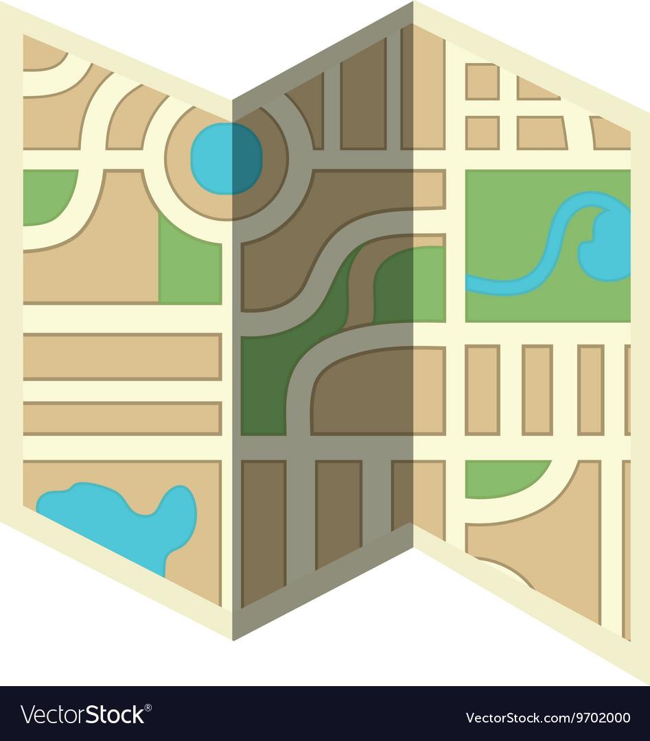 Orienteering theme design isolated icon