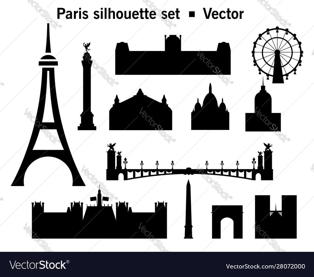 Paris skyline silhouette 9