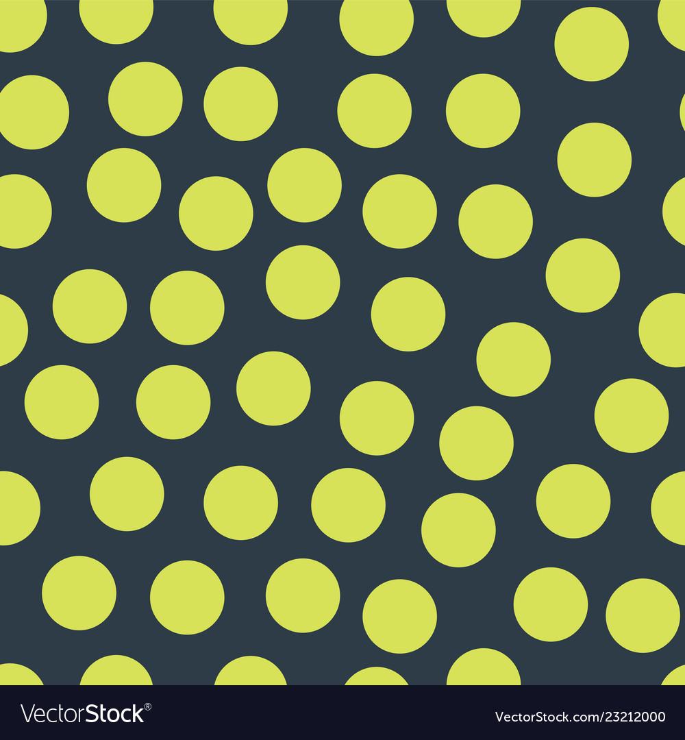 Random placed polka dots lime on dark blue pattern
