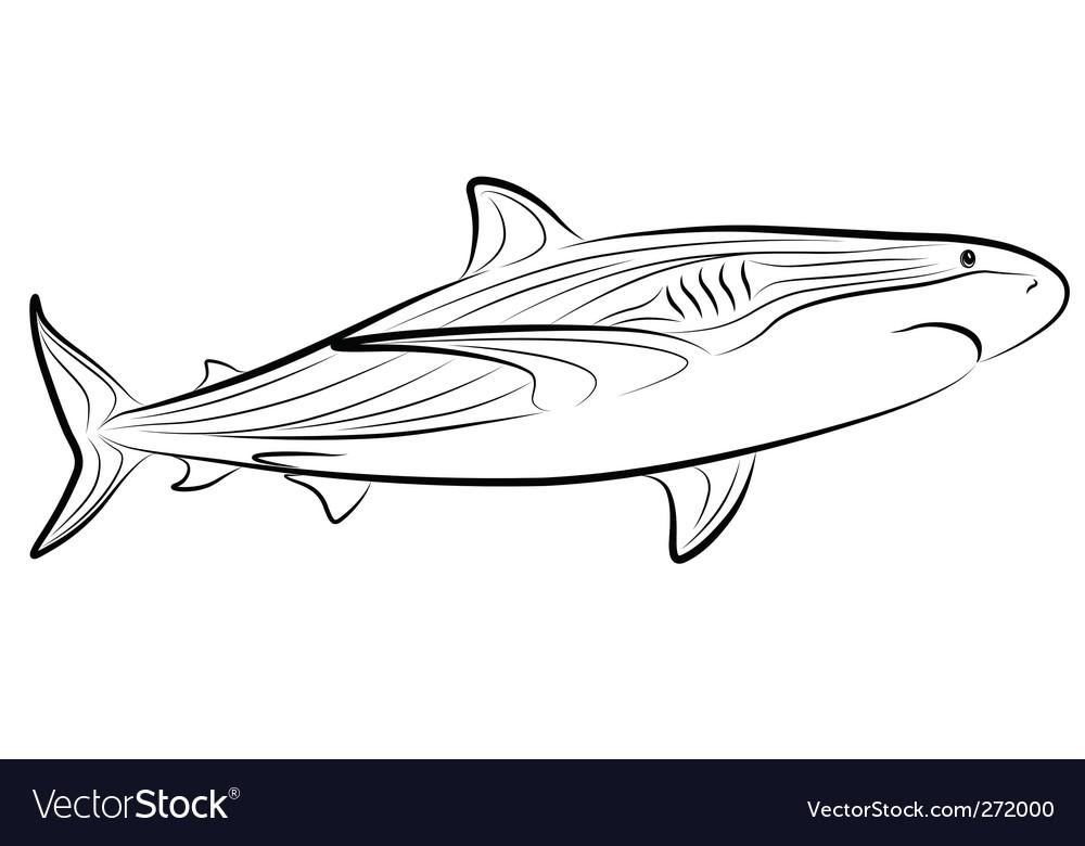 Shark tribal tattoo vector image