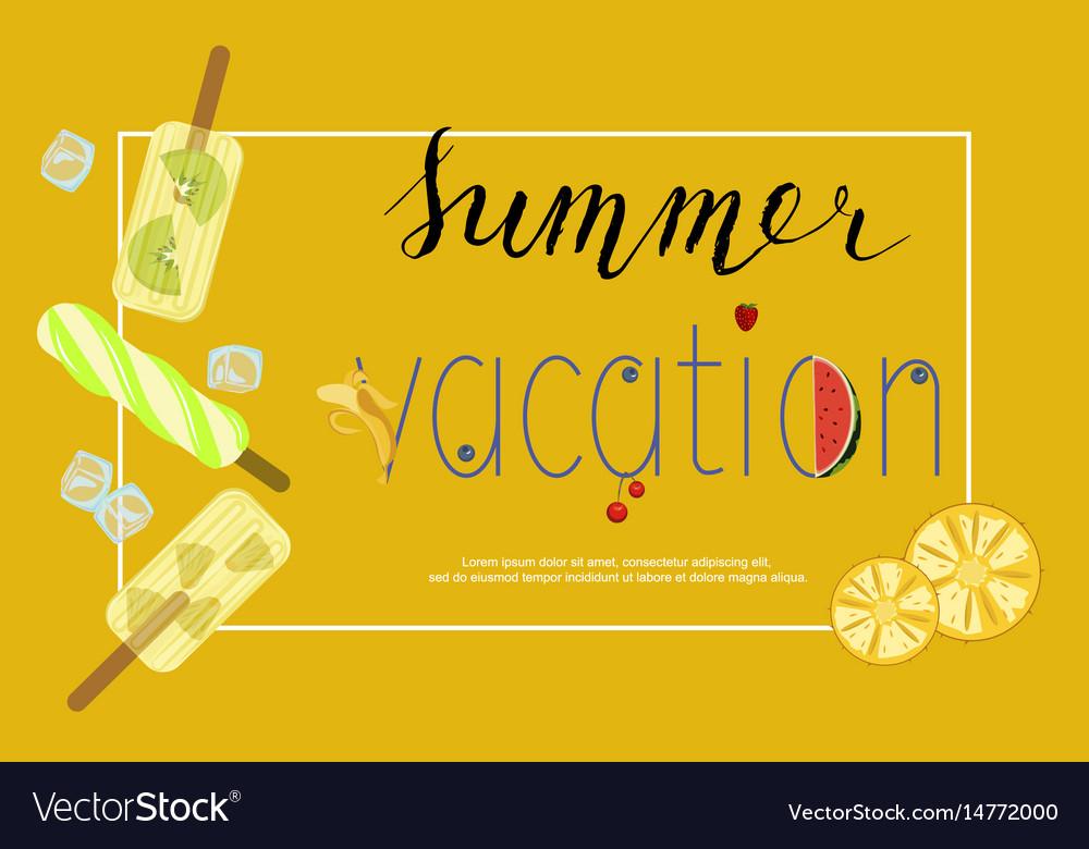 Summer menu banner