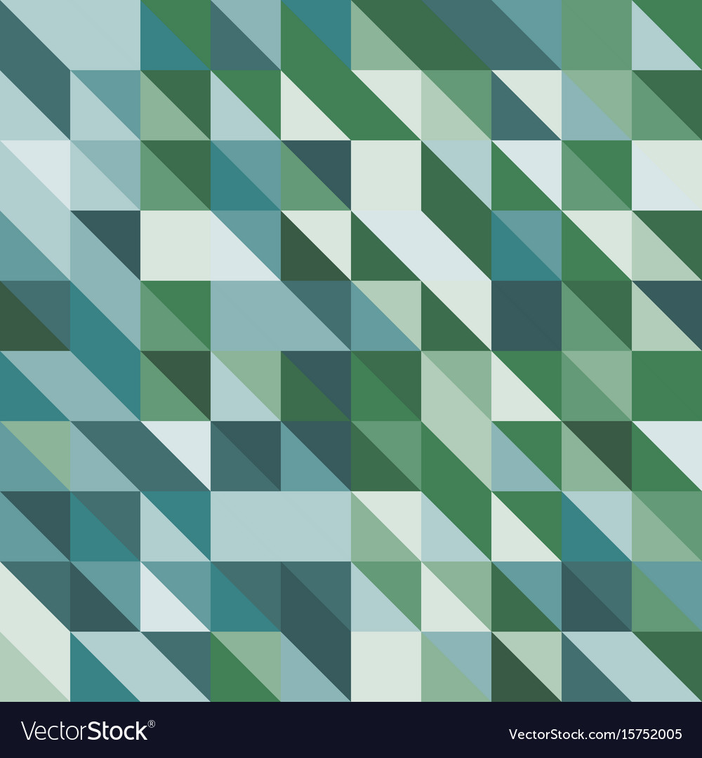Abstract background with green tone triangles