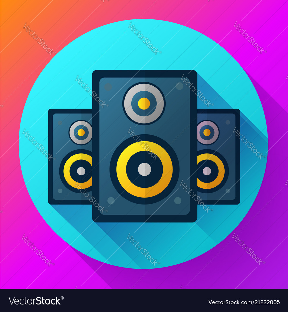 Audio music icon and media speaker icon