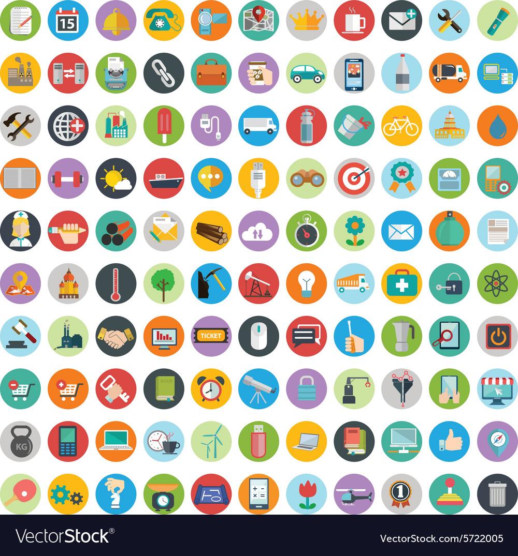 Flat icons design modern big set of various