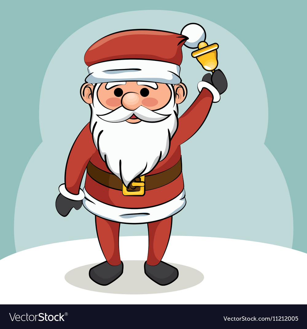 Santa claus with bell christmas design