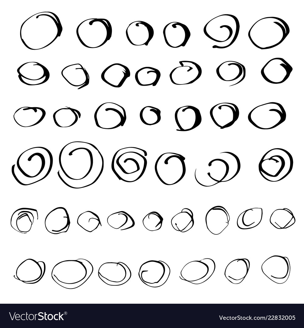 Set of hand drawn design elements
