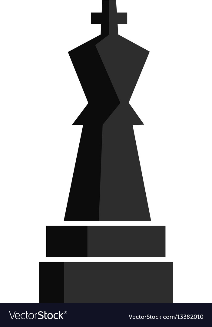Chess play figure for app game or web ui design