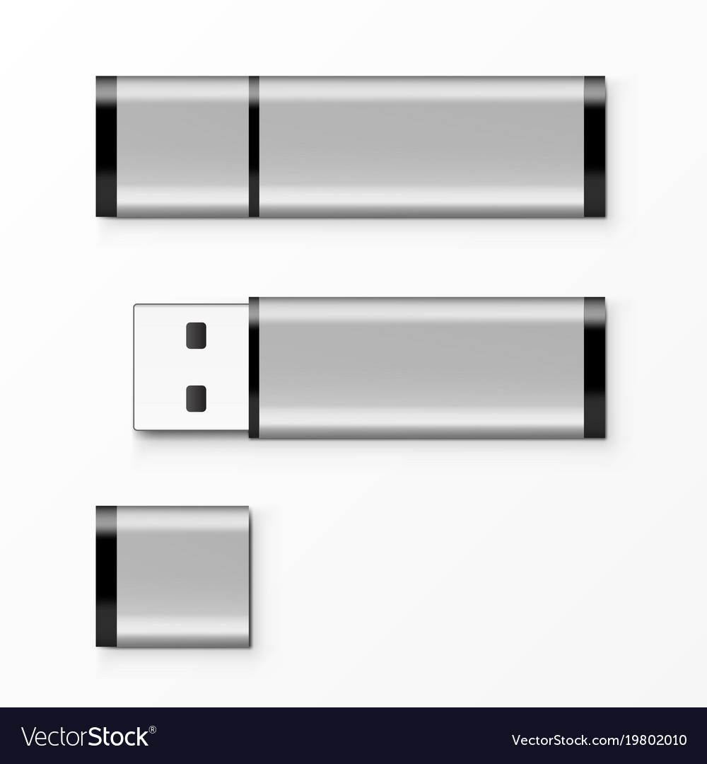 Chrome usb flash drive template for advertising