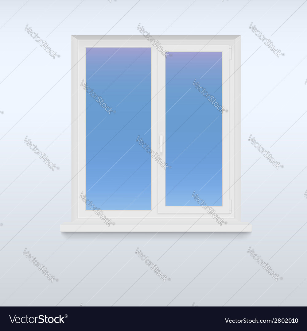Closed white plastic window