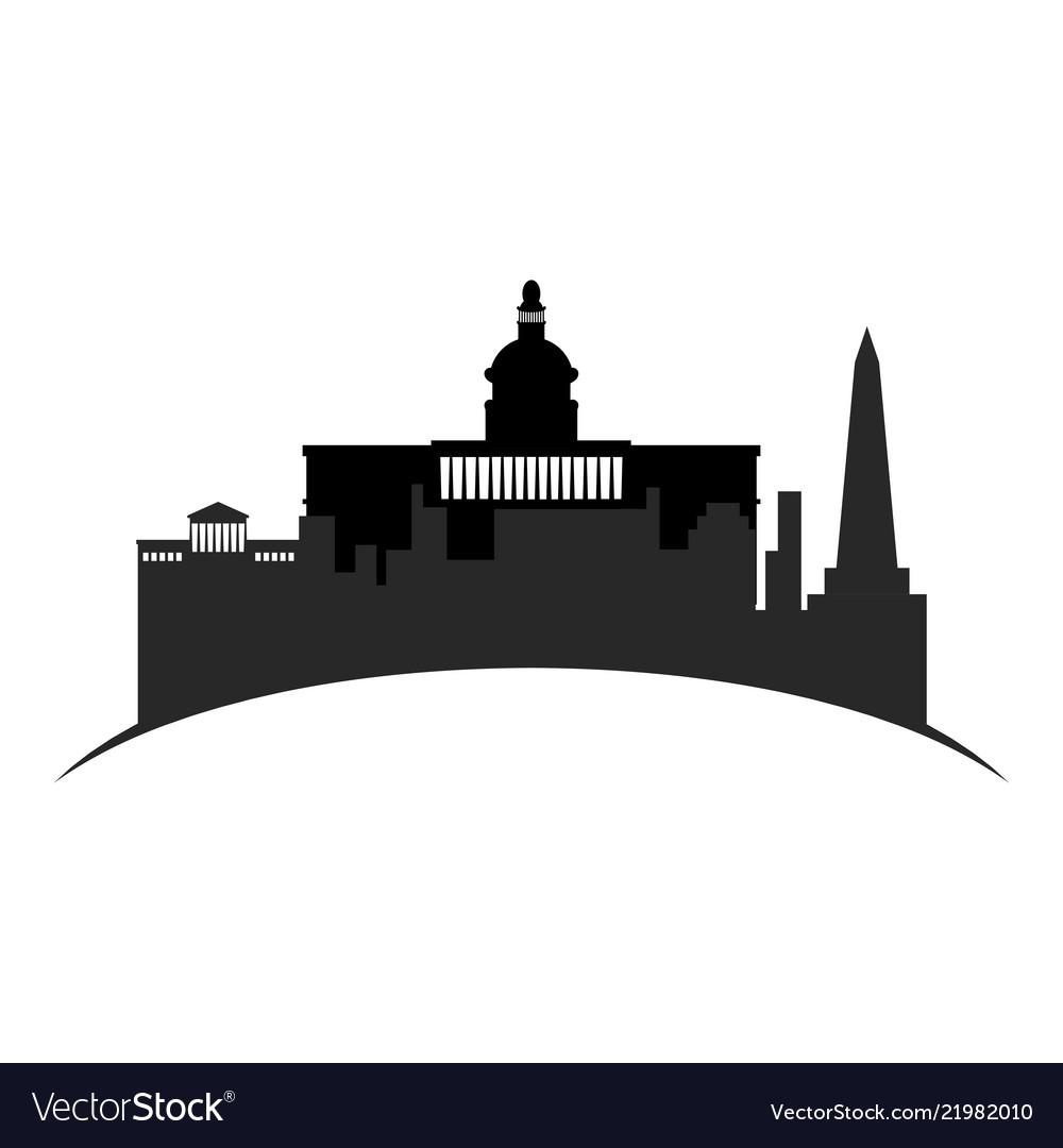 Isolated cityscape of washington city
