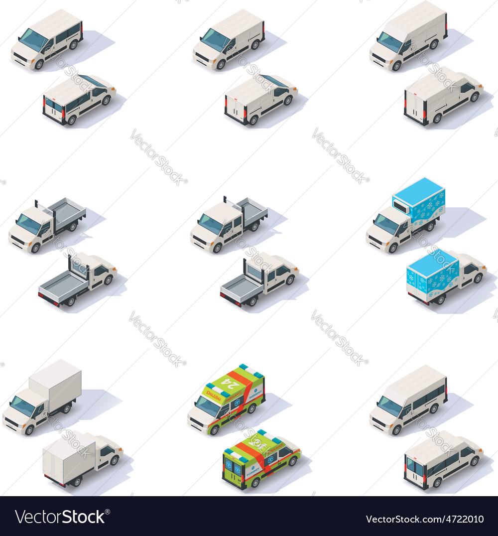 Isometric vans set