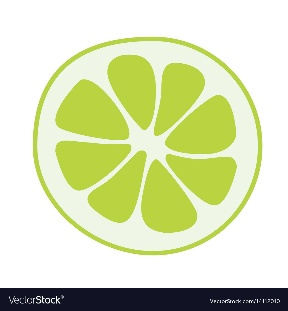 Lime fruits poster in cartoon style depicting vector image