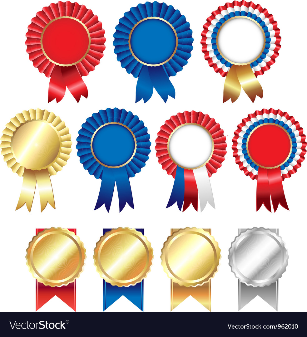 rosette ribbons royalty free vector image vectorstock