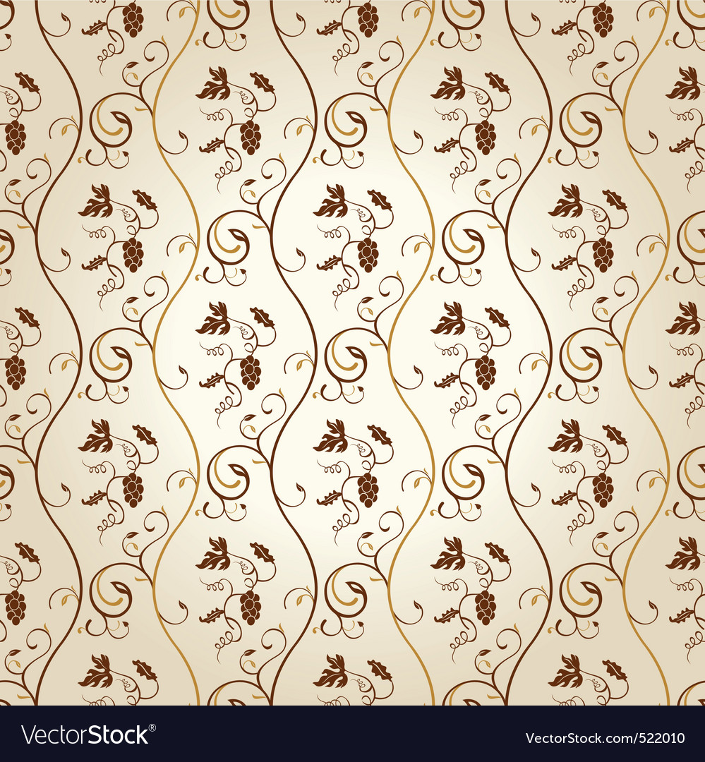 Seamless wallpaper background grapes decor vintage