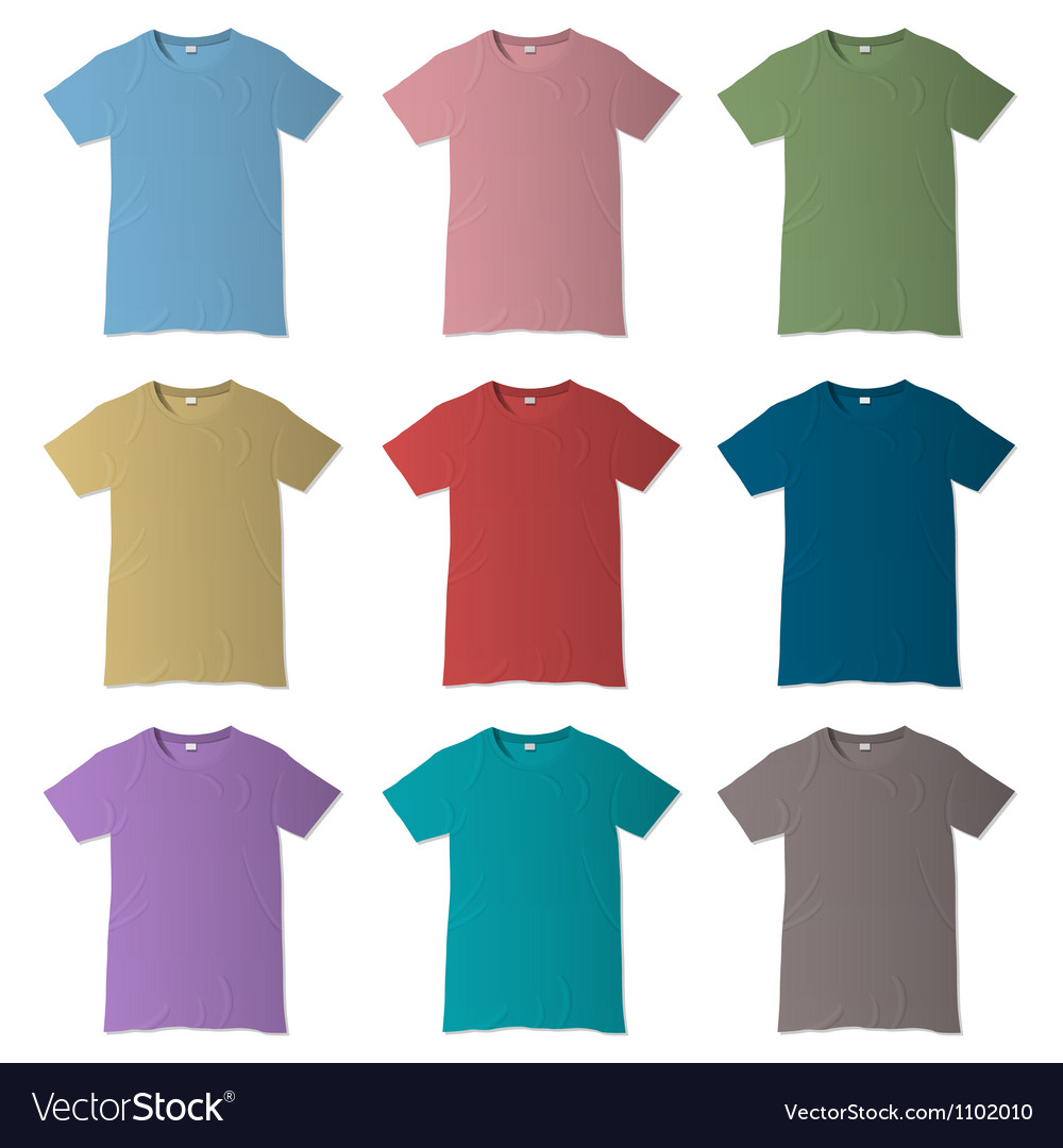 b90feb77 T shirt design templates in various colors Vector Image