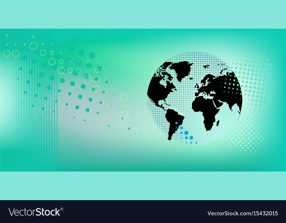 Banner with globe vector image