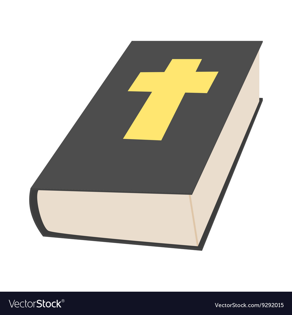 Bible book icon in cartoon style