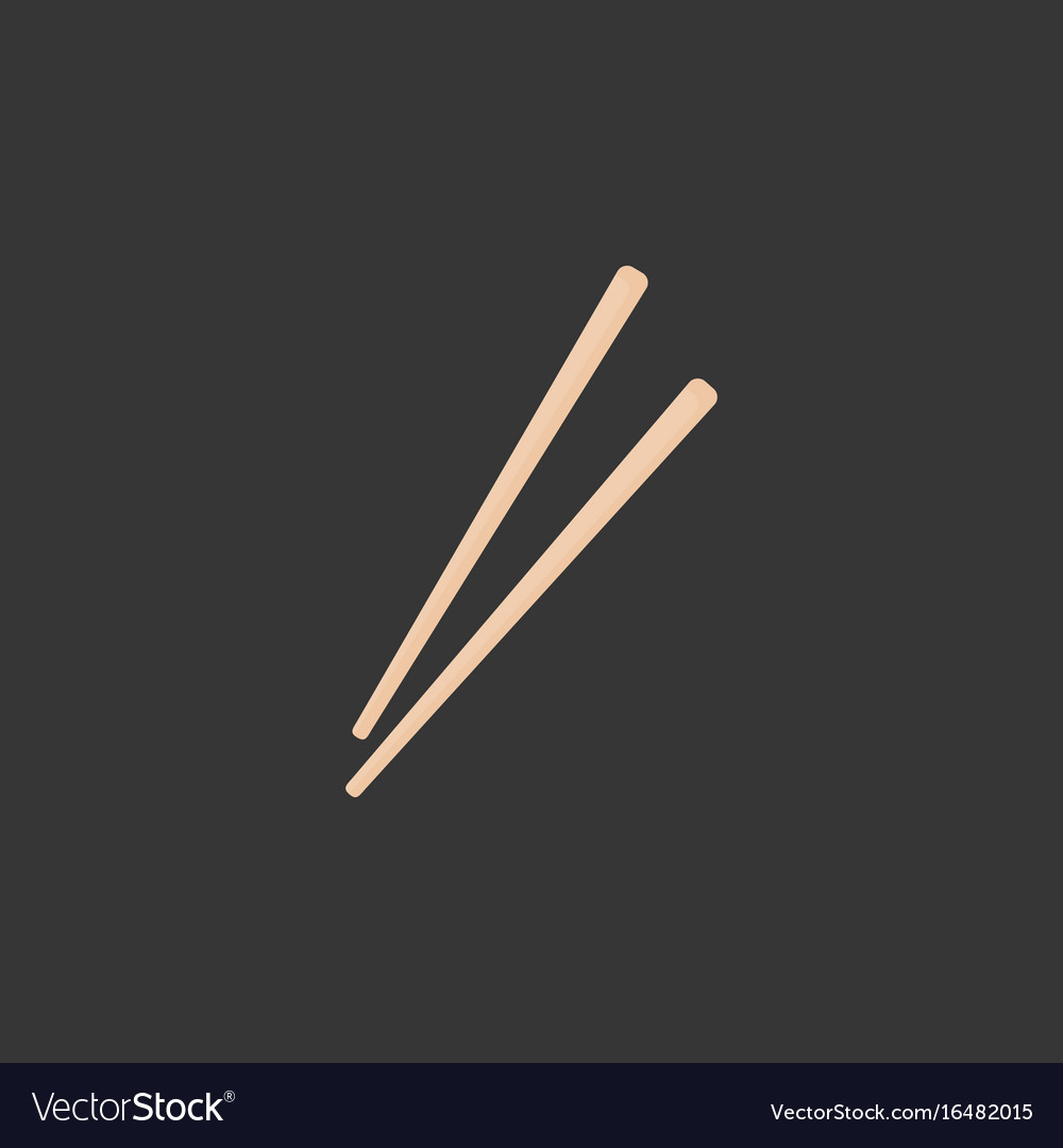 Chopsticks flat icon