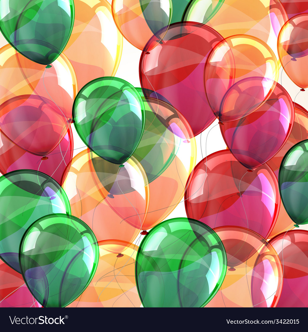 Holiday background with flying multicolored