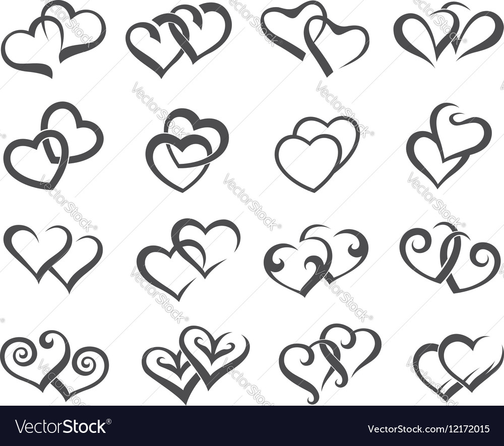 Icons of hearts
