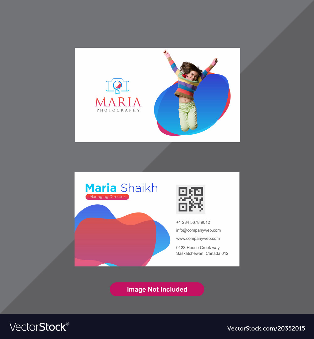 Premium red and blue business card Royalty Free Vector Image