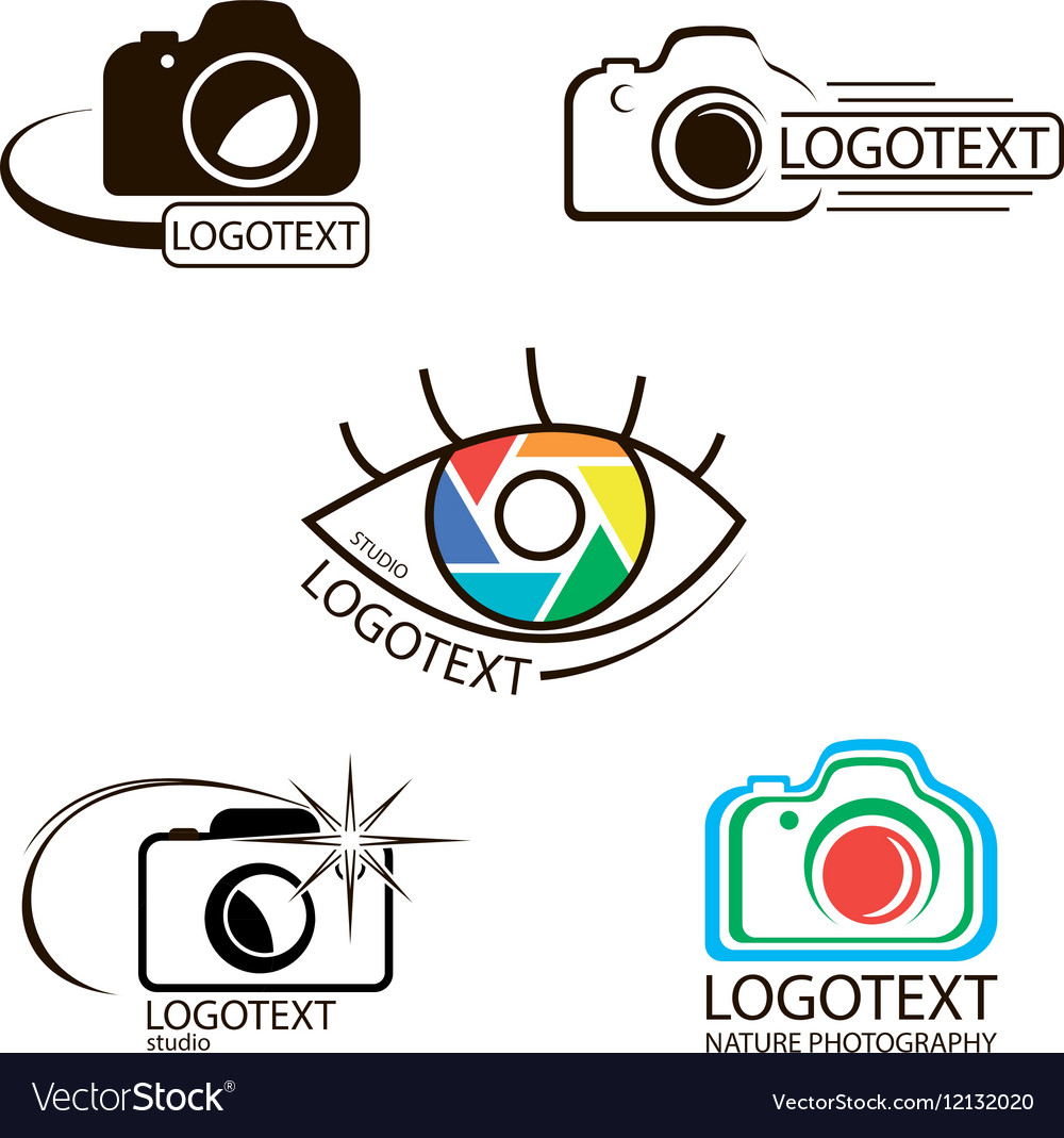 Collection of photography logo templates