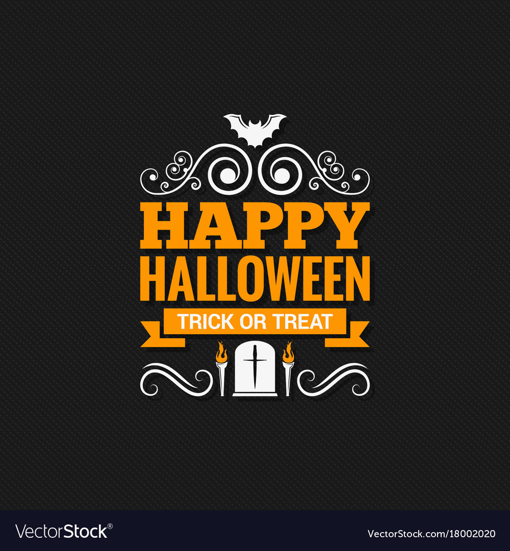 Happy halloween vintage design background