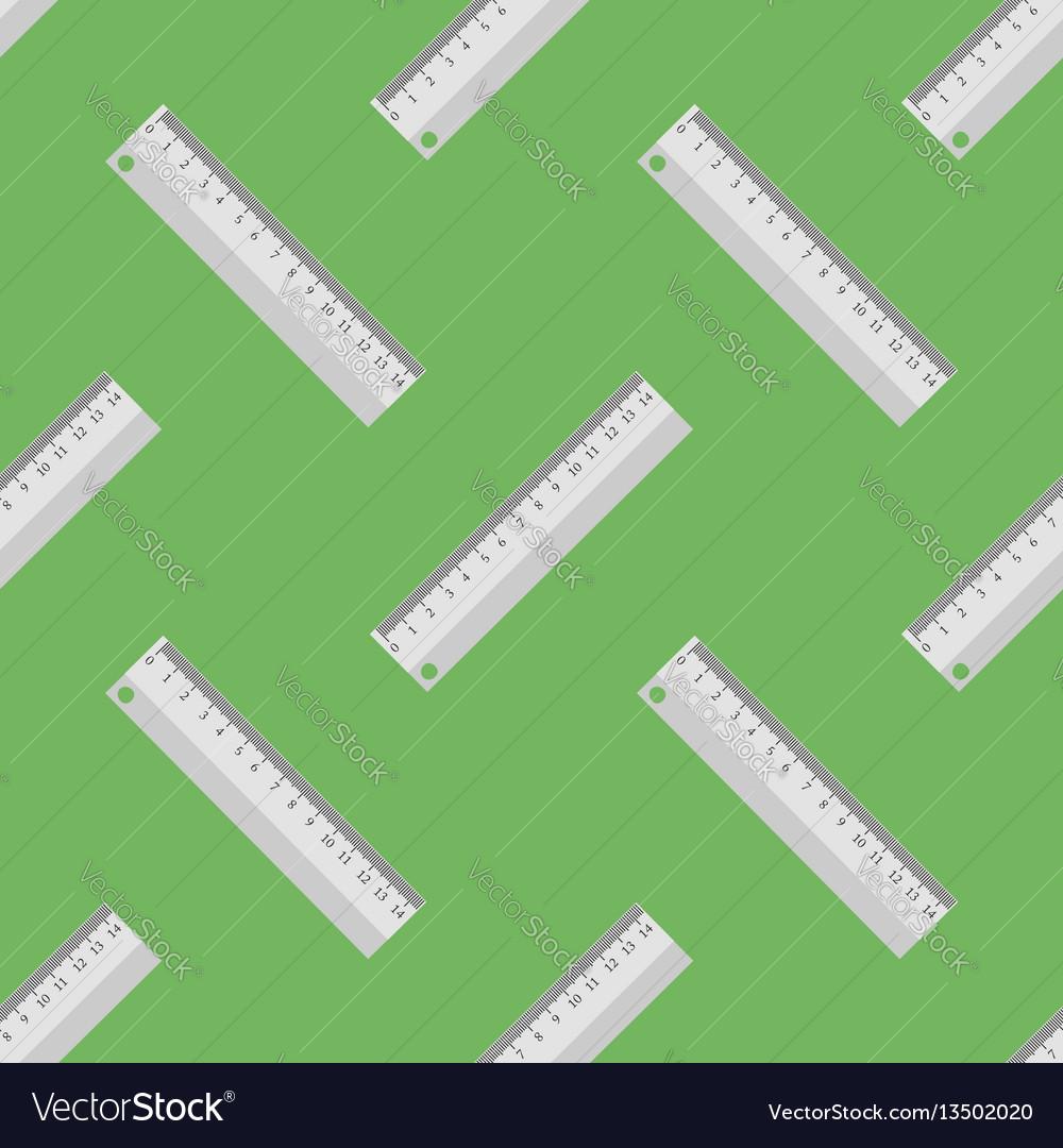 Metallic ruler seamless pattern