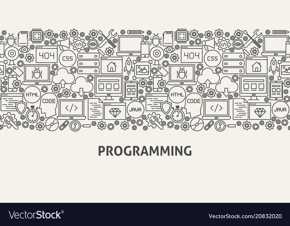 Programming banner concept