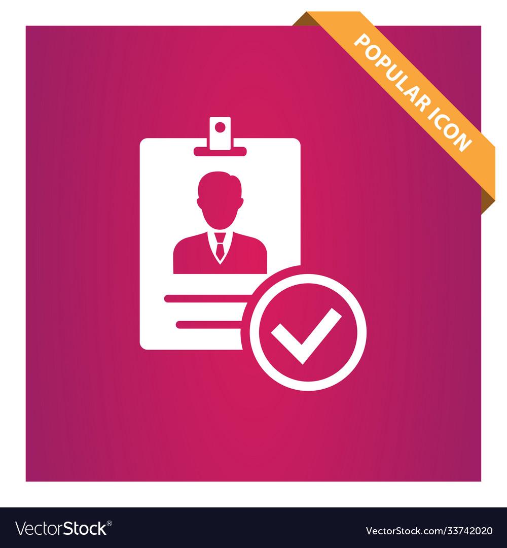 Verified id card icon