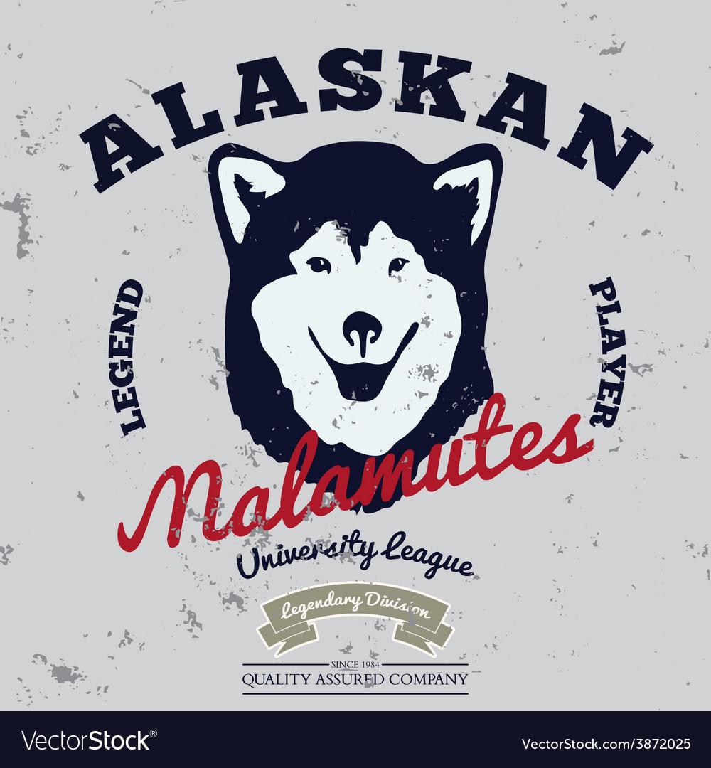 Alaskan malamute club Tee graphic