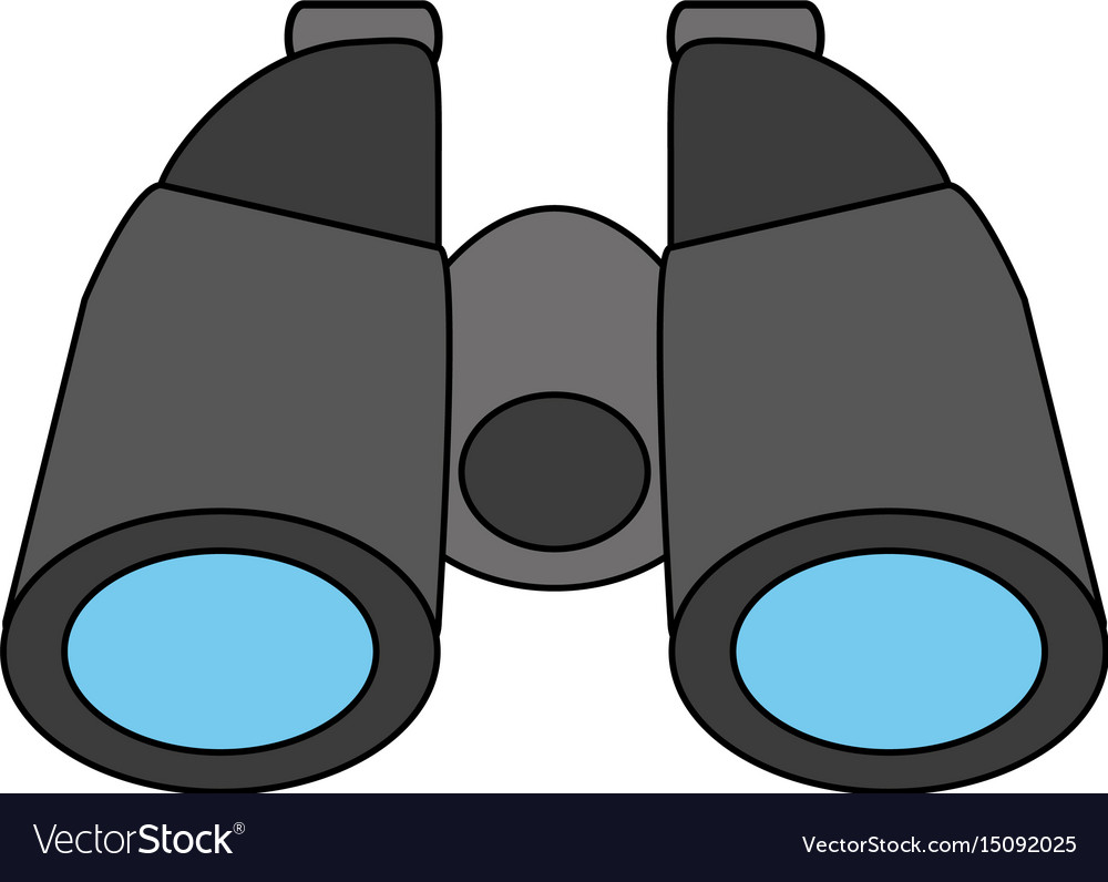color silhouette cartoon binocular field glasses vector image rh vectorstock com vector binoculars price vector binoculars price