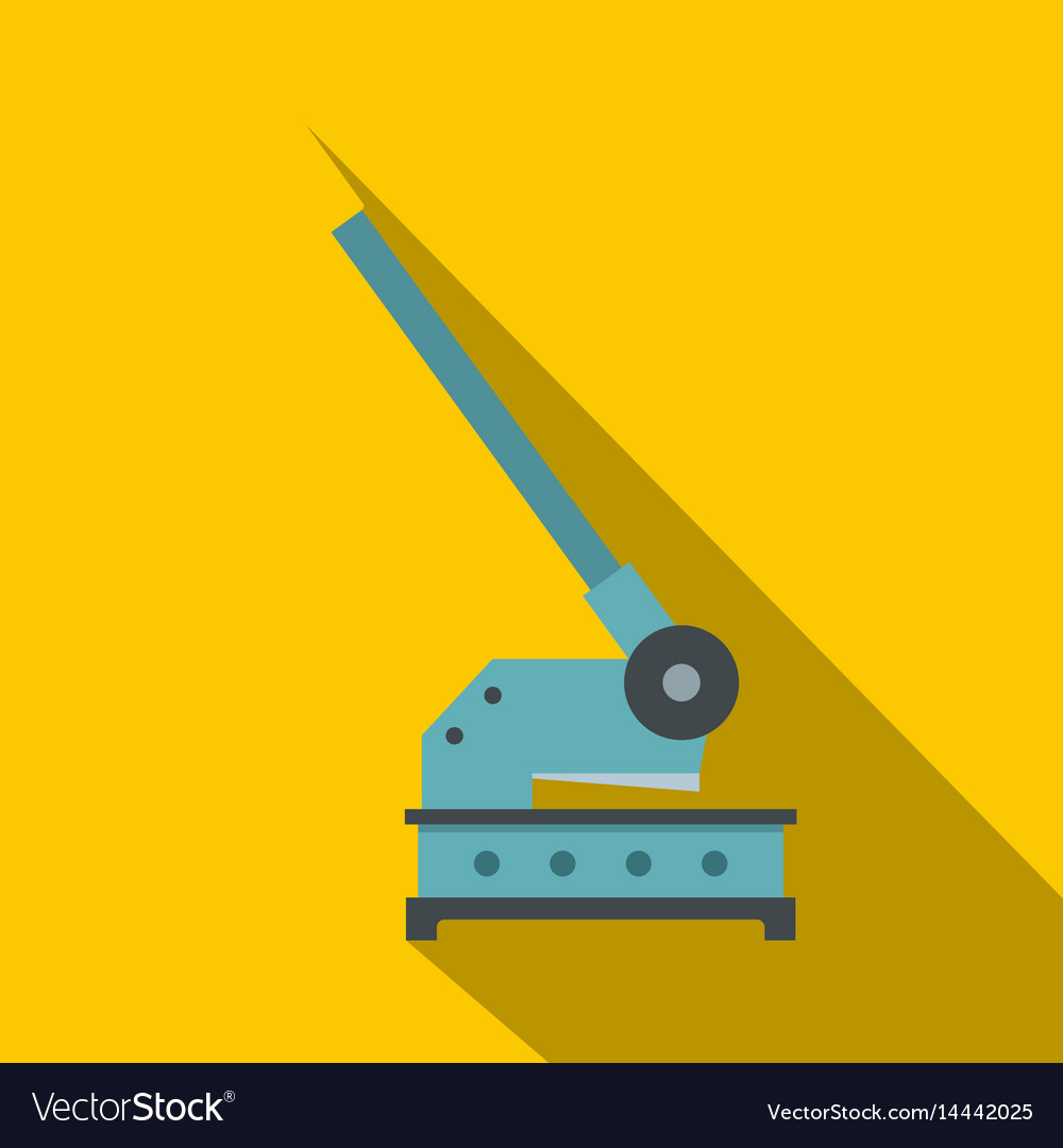 Cutting machine icon flat style vector image