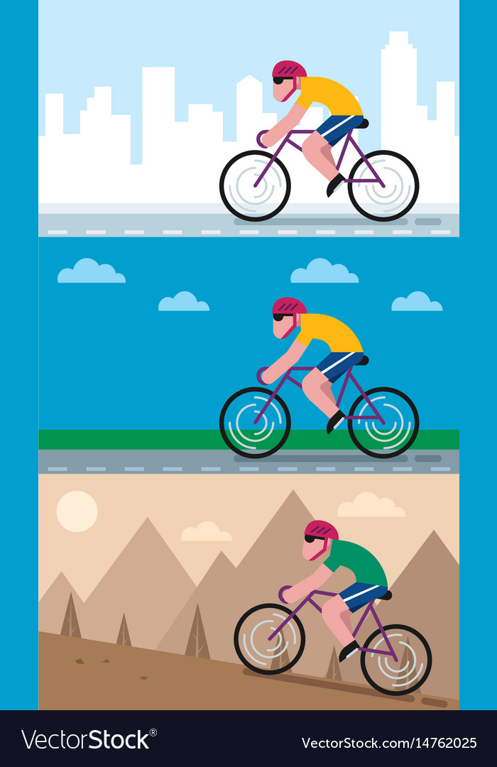Cycling backgrounds