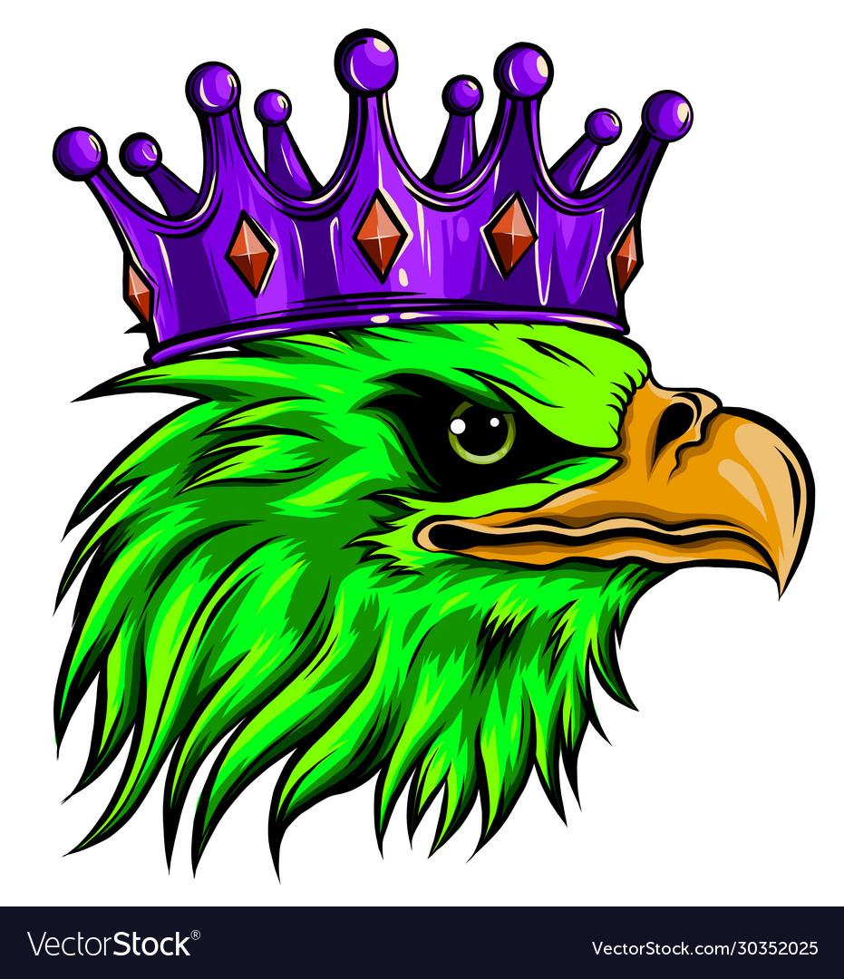Logo queen eagles cute crown print