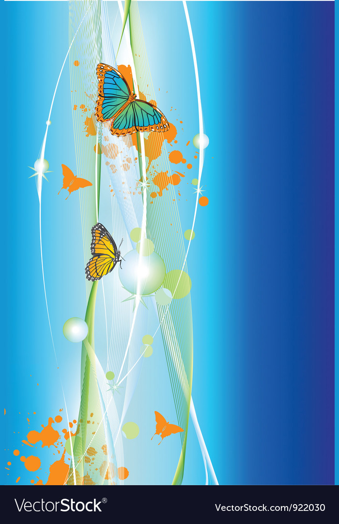 Abstract background with butterfly vector image