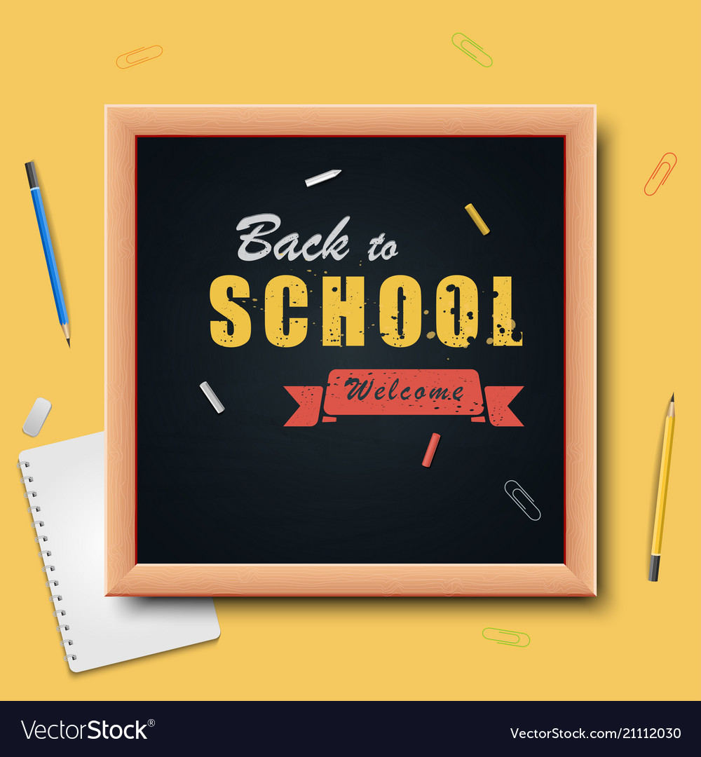Back to school on wood background